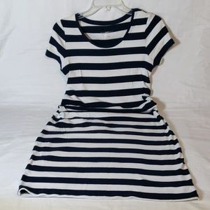 Liz Lange Navy & White Striped T-Shirt Dress